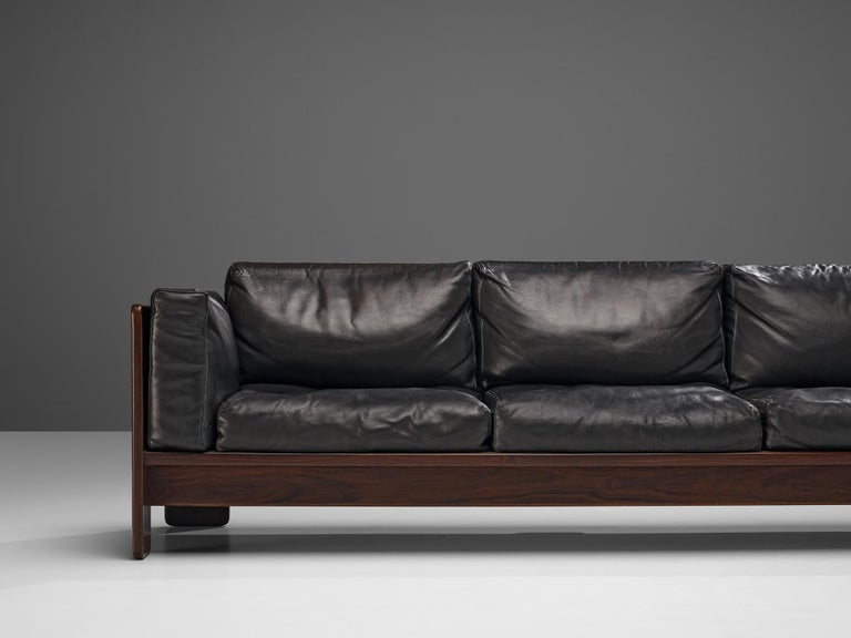 Tobia Scarpa for Knoll Pair of 'Bastiano' Sofas in Black Leather For Sale 5