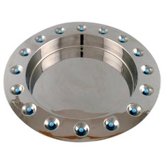 Tobia Scarpa for Morellato, Italy, a Large Modern Design Metal Bowl