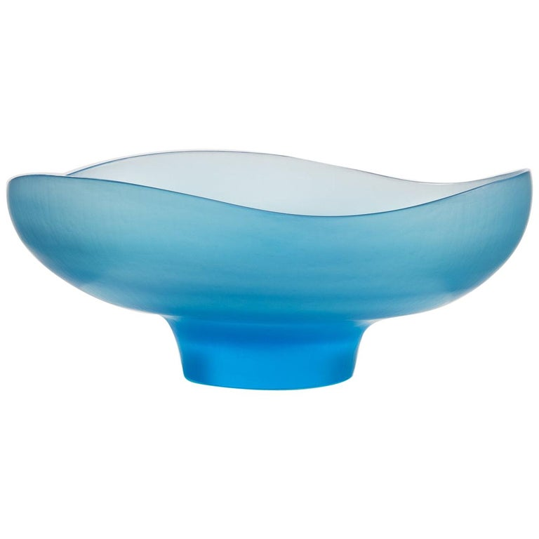 "Tobia Scarpa for Venini Murano ""Battuto"" Dish on Foot For Sale"