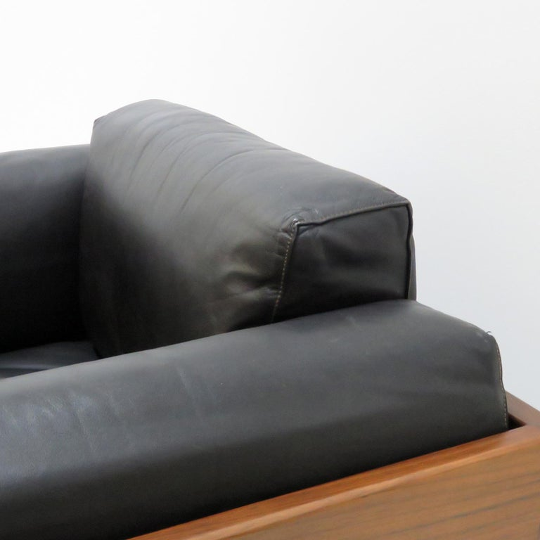 Leather Tobia Scarpa Lounge Chairs 'Bastiano' for Gavina, Italy, 1960 For Sale