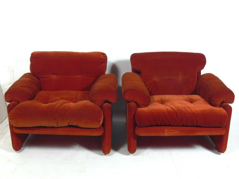 Mid-Century Modern Tobia Scarpa Lounge Chairs for C&B Italia For Sale