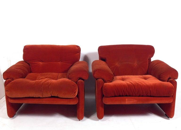Italian Tobia Scarpa Lounge Chairs for C&B Italia For Sale