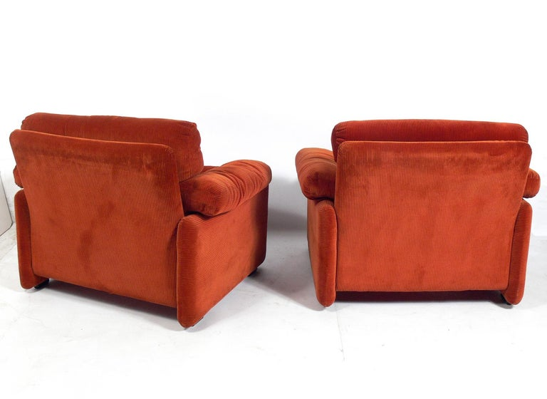 Tobia Scarpa Lounge Chairs for C&B Italia In Good Condition For Sale In Atlanta, GA