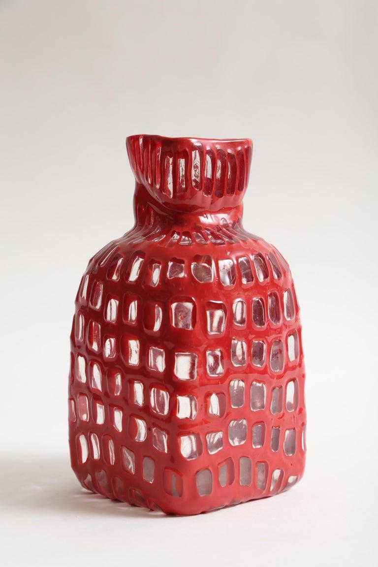 Tobia Scarpa Occhi Vase for Venini In Good Condition For Sale In West Palm Beach, FL