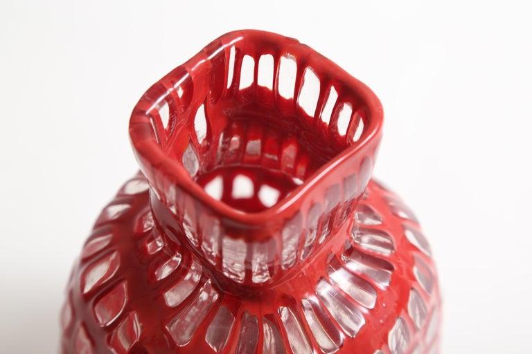 Art Glass Tobia Scarpa Occhi Vase for Venini For Sale