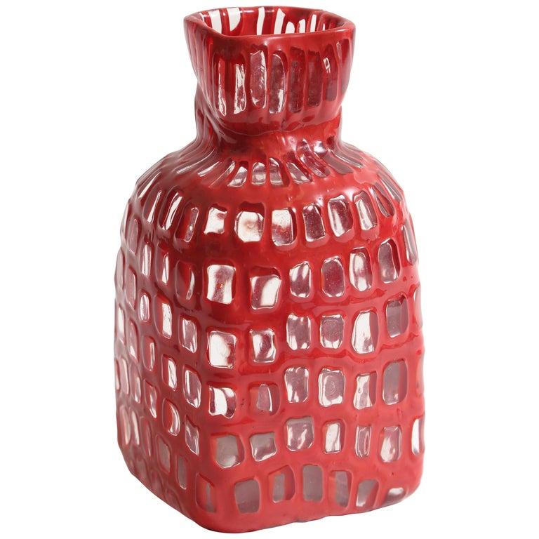 Tobia Scarpa Occhi Vase for Venini For Sale