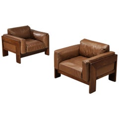 Tobia Scarpa Pair of 'Bastiano' Club Chairs