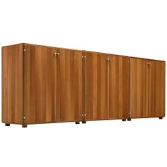Tobia Scarpa, Set of Three Cabinets in Walnut, Italy, 1960s