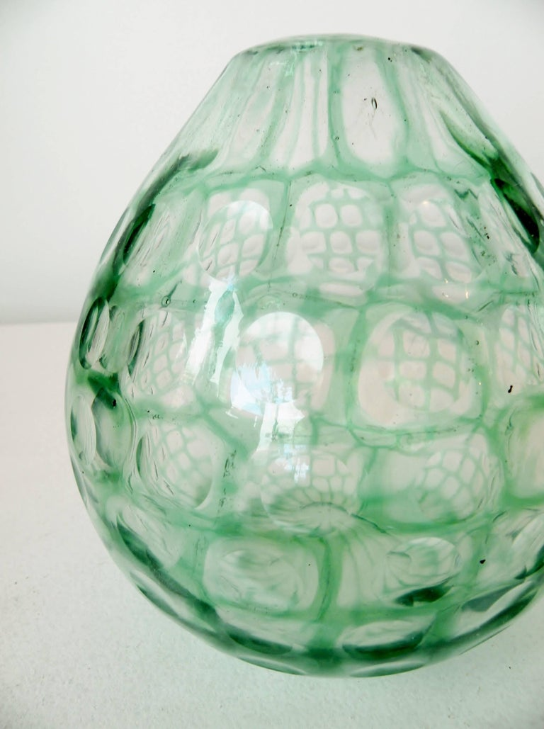 Modern Tobia Scarpa Venini Occhi Bulbous Vase For Sale