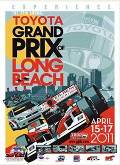 Toyota Grand Prix Long Beach original racing poster
