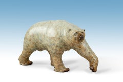 Solid Bronze Animal Sculpture of 'Nanook' the Polar Bear by Tobias Martin