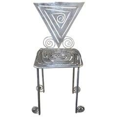 Toby Heller Sculptural Aluminum Side Chair