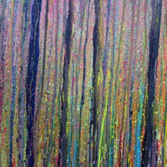 Light Through Trees 1, Painting, Acrylic on Wood Panel