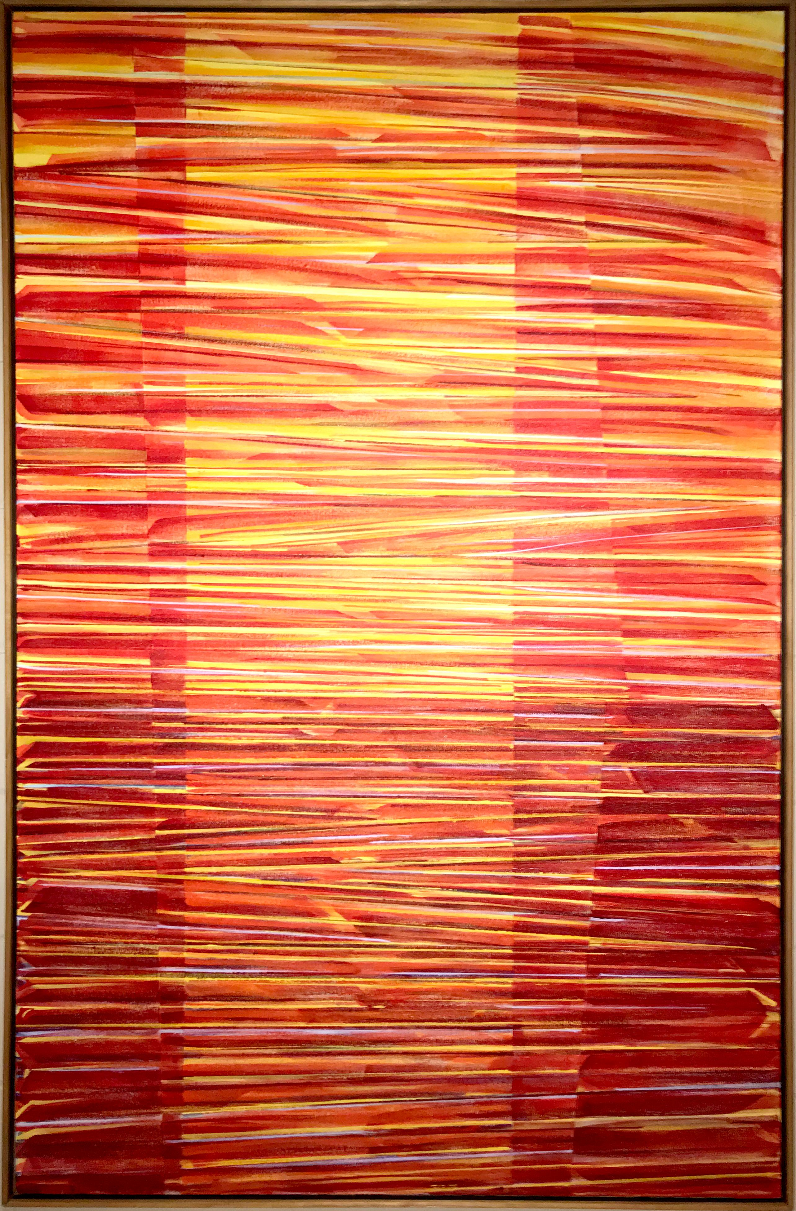 On Reflection II, Large Geometric Abstract Painting by Todd Boppel