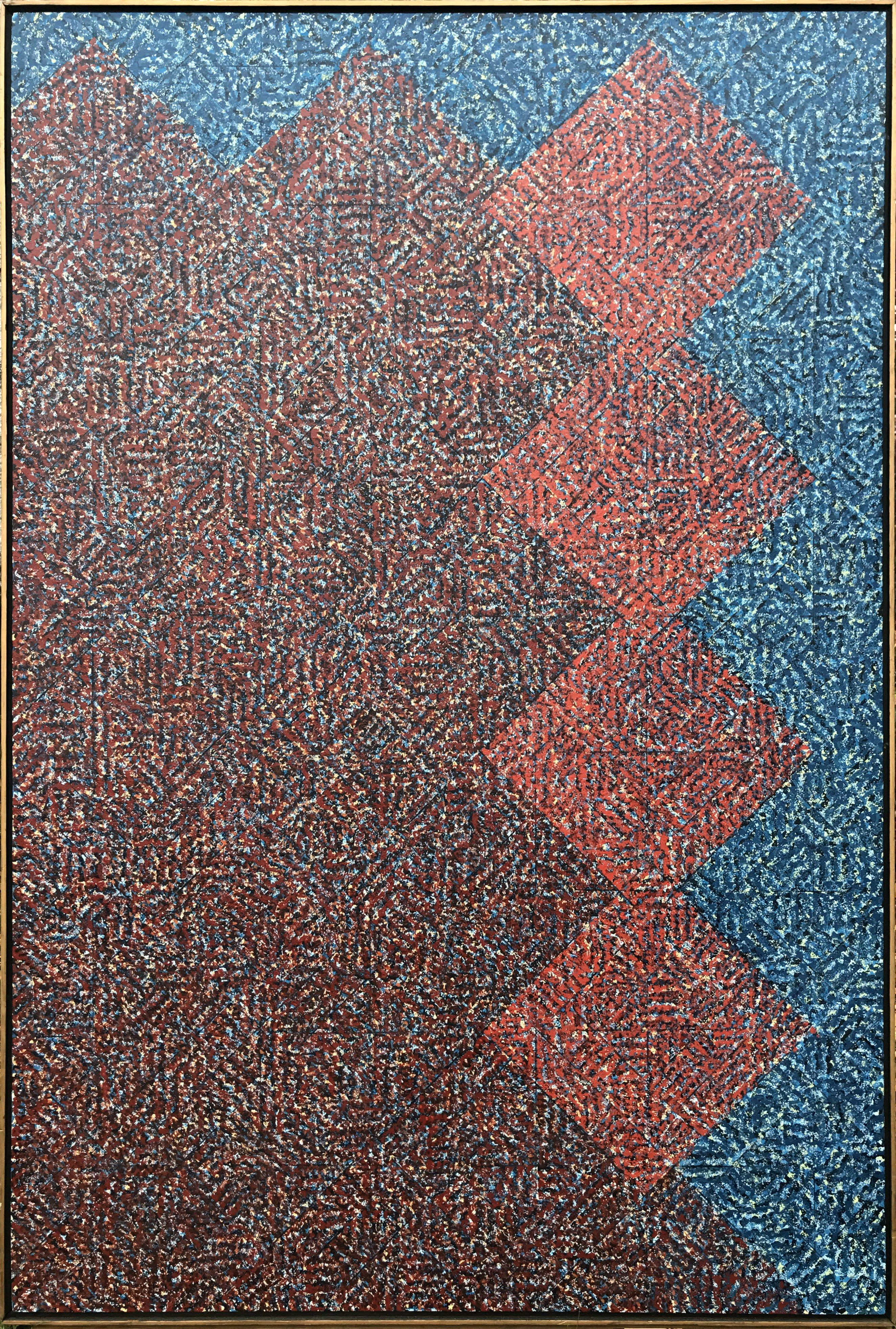 Tomoe, Large Geometric Abstract Painting by Todd Boppel