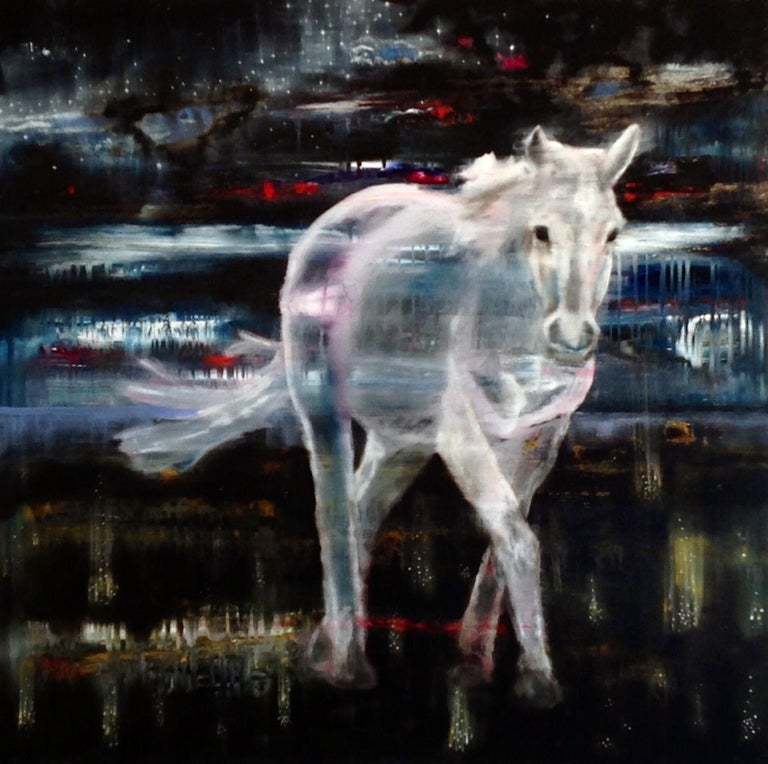 Todd Horton Animal Painting - To Feel Like an Animal in the Night