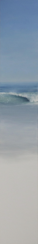 LATITUDE, wave crashing, waterscape, photo-realism, shades of blue, ocean