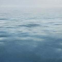 SKETCH OF AMAGANSETT, seascape, photo-realism, shades of blue, ocean
