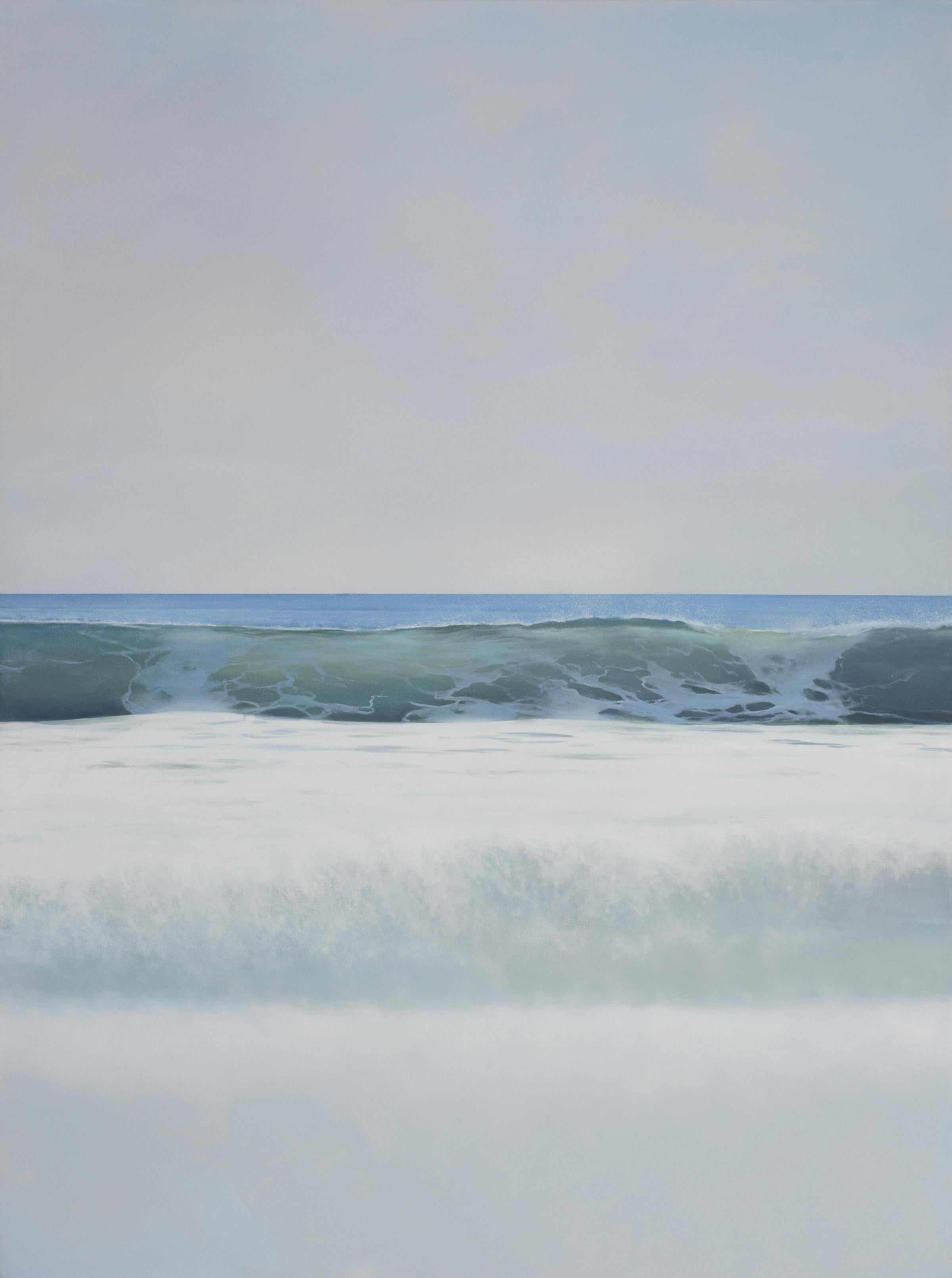 SUMMER WHITES, ocean shoreline, waterscape, shades of white, blue, waves, malibu