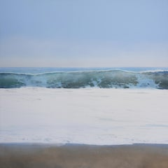 Crystal Cove by Todd Kenyon - ocean wave with foamy blue water rolling onto sand