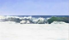 Montage Ocean Blue Coastal Wave by Todd Kenyon -  Print on Canvas