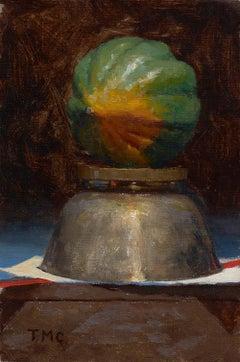 Todd M. Casey, Acorn Squash on Silver Bowl (study)
