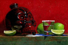 Todd M. Casey, Anejo Tequila, oil on panel, 2018
