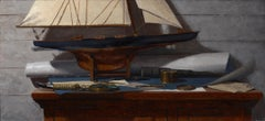 Todd M. Casey, Boat with Blueprint Study