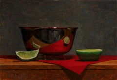 Todd M. Casey, Bowl with Limes, oil on panel