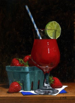 Todd M. Casey, Strawberry Daiquiri, oil on panel, 2018