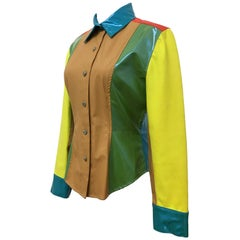 Todd Oldham Vivid Colour Block Jacket Blouse 1990s