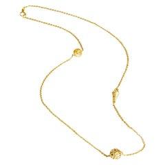 Todd Reed 18 Karat Yellow Gold Necklace with Rose Cut Diamonds