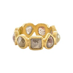 Todd Reed Fancy Cut Mixed Diamonds  18K Yellow Gold Ring