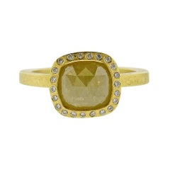 Todd Reed Gold 1.82 Carat Fancy Rose Cut Diamond Ring