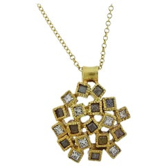 Todd Reed Gold Rough Diamond Pendant Necklace