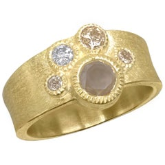Todd Reed Natural Brilliant Cut Five-Diamond Gold Band Ring