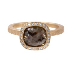 Todd Reed One of a Kind Red Diamond Rose Gold Ring
