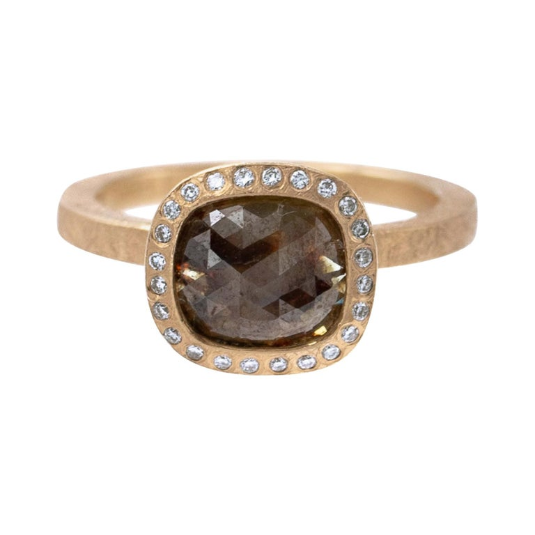 Todd Reed One of a Kind Red Diamond Rose Gold Ring For Sale