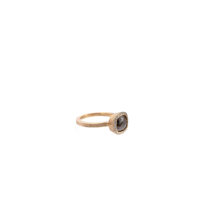 Rose Cut Todd Reed One of a Kind Red Diamond Rose Gold Ring For Sale