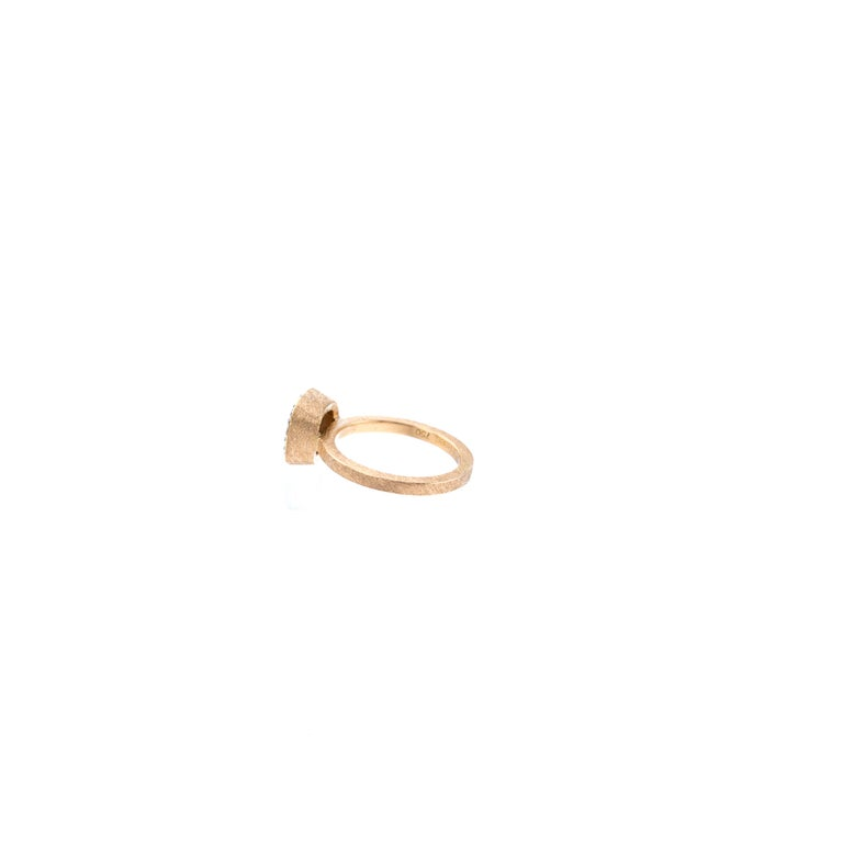 Todd Reed One of a Kind Red Diamond Rose Gold Ring In New Condition For Sale In Jackson, WY