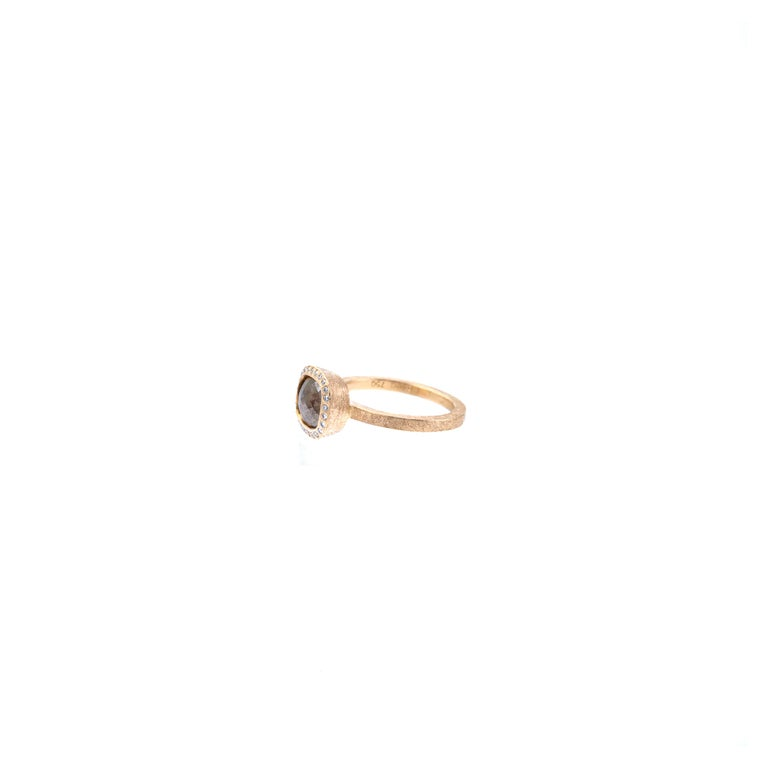 Women's Todd Reed One of a Kind Red Diamond Rose Gold Ring For Sale