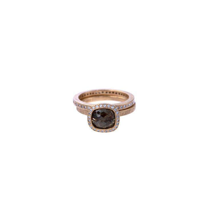 Todd Reed One of a Kind Red Diamond Rose Gold Ring For Sale 1