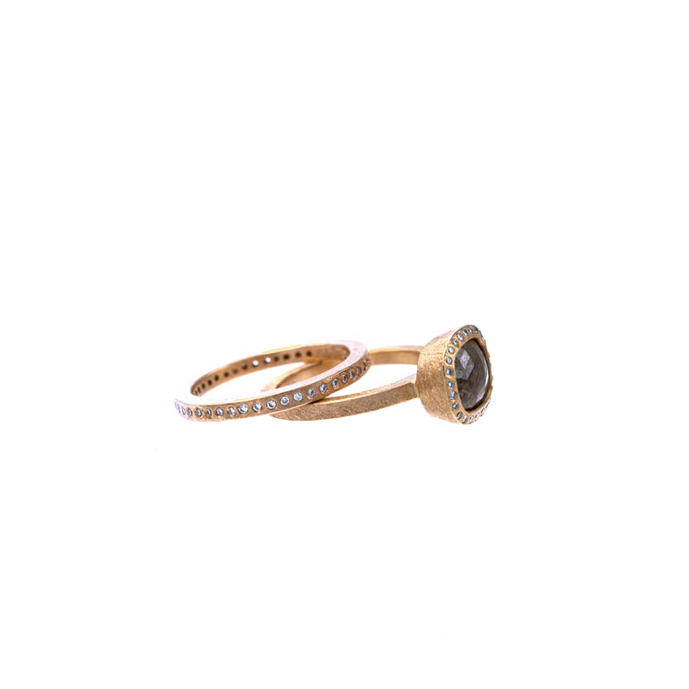 Todd Reed One of a Kind Red Diamond Rose Gold Ring For Sale 2