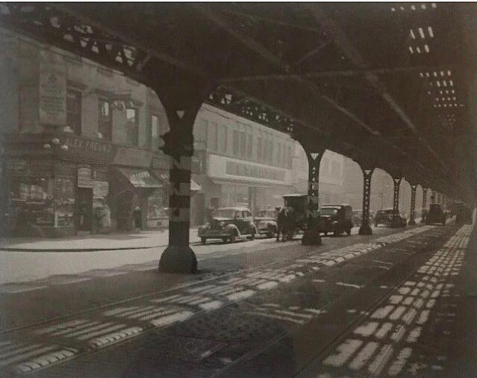 Under The El Third Avenue 1946 Todd Webb NYC Photograph Mid 20 Century WPA photo