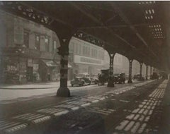 Under The El Third Avenue 1946 Todd Webb NYC Photograph Mid 20 Century WPA photo