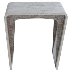 Todos Side Table, Concrete Canvas and Metal, by Neal Aronowitz