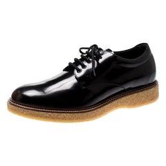 Tod's Black Leather Platform Lace Up Derby Size 42.5
