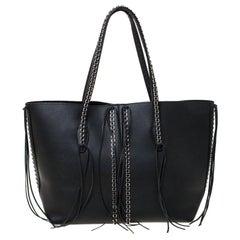 Tod's Black Leather Shopper Tote
