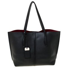 Tod's Black Leather Small Joy Tote