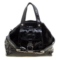 Tod's Black Patent Leather Tote
